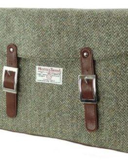 Unisex-Green-Brown-Herringbone-Harris-Tweed-Satchel-Bag-Laptop-Bag-Woven-In-Scotland-by-Glen-Appin-0