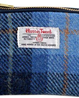 Vagabond-Bags-Harris-Tweed-Check-Cosmetic-Toiletry-Bag-16-cm-Mid-Blue-0