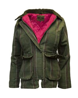 Walker-Hawkes-Ladies-Derby-Tweed-Shooting-Hunting-Country-Jacket-Pink-Stripe-0