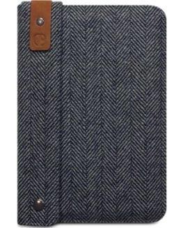 iPad-Mini-Stafford-Herringbone-Grey-Tweed-Leather-Carry-Case-0