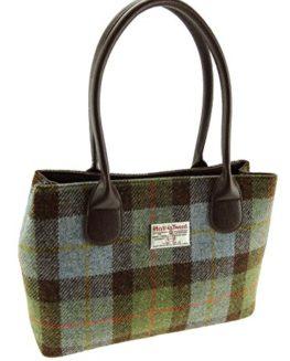 Ladies-100-Harris-Tweed-Classic-Handbag-LB1003-10-Colours-Available-New-0