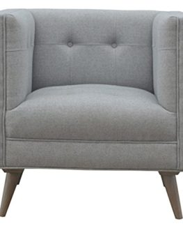 Artisan-Furniture-Scandinavian-Designed-Arm-Chair-in-Grey-Tweed-Wood-Natural-OakIsh-Finish-0