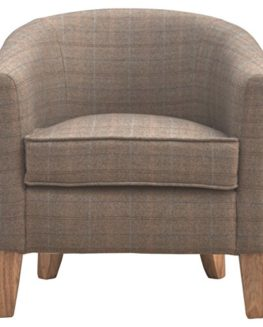Artisan-Furniture-Upholstered-Tweed-Tub-Chair-Wood-Natural-OakIsh-Finish-0