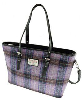 Ladies-Authentic-Harris-Tweed-Large-Spey-Tote-Bags-In-Various-Colous-LB1028-0