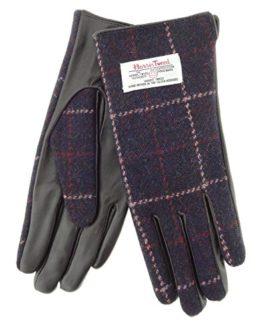 Ladies-Genuine-Harris-Tweed-Leather-Gloves-LB3001-COL39-0
