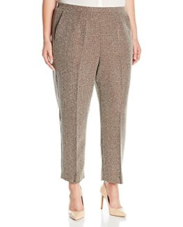 Alfred-Dunner-Womens-Plus-Size-Short-Check-Tweed-Pant-0