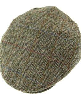 Authentic-Harris-Tweed-County-Cap-Green-Herringbone-0