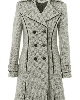 Busy-Clothing-Womens-White-Black-Tweed-34-Coat-0
