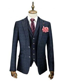Cavani-Draco-3-Piece-Suits-Check-Tweed-Regular-Fit-Blazer-Navy-Check-0