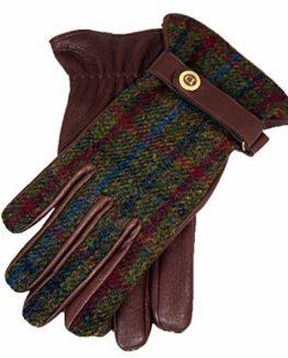 Dents-Harris-tweed-and-deerskin-leather-gloves-bark-0