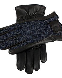 Dents-Westwood-Harris-tweed-and-deerskin-leather-gloves-black-0
