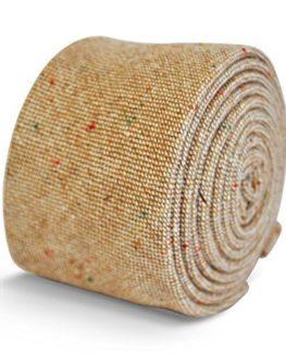 Frederick-Thomas-mens-wool-tweed-tie-in-beige-0
