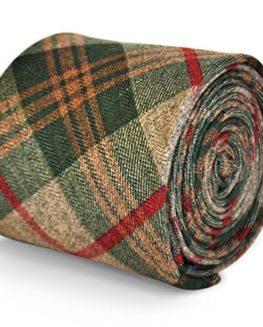 Frederick-Thomas-mens-wool-tweed-tie-in-green-brown-red-check-FT3144-0
