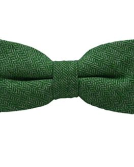 Garden-Green-Herringbone-Bow-Tie-0