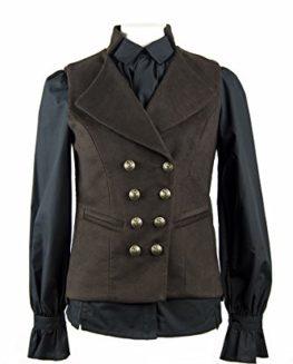 Great-Scot-Ladys-Regency-Waistcoat-Chestnut-Moleskin-0