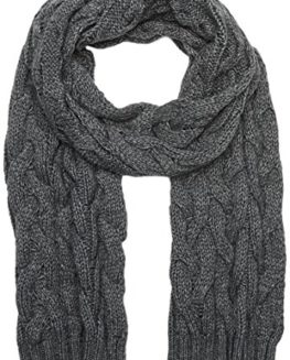 Hackett-Mens-Cable-Knit-Scarf-Grey-925Middle-Grey-One-Size-0