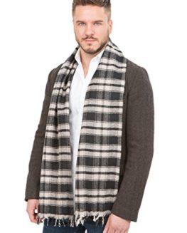 Handloom-Tweed-Merino-Wool-Plaid-Scarf-0