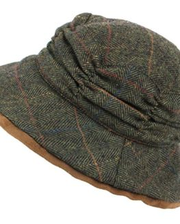 Hawkins-Ladies-Wool-Tweed-Herringbone-Cloche-Hat-0