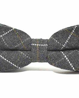 Heritage-Check-Charcoal-Grey-Bow-Tie-Tweed-0