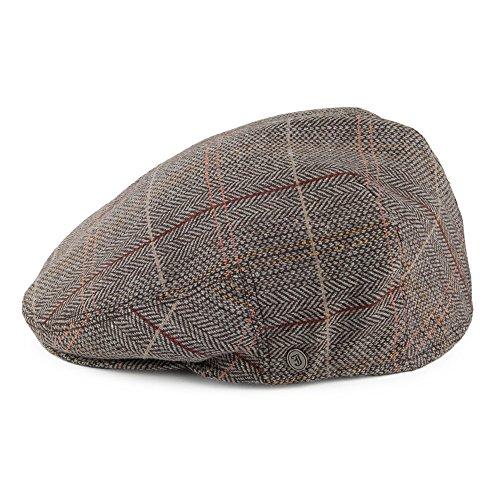 244e042050b Jaxon   James Hats Tweed Flat Cap - Brown-Grey - That British Tweed ...