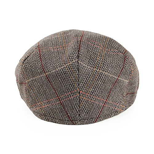 Jaxon   James Hats Tweed Flat Cap - Brown-Grey - That British Tweed ... 14bb0833345b