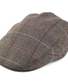 Jaxon-James-Hats-Tweed-Flat-Cap-Brown-Grey-0