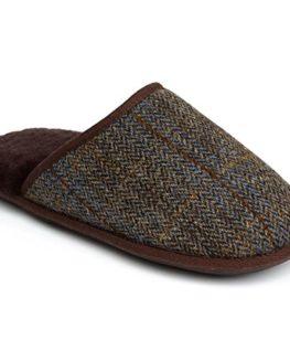Just-Sheepskin-Mens-Russell-Tweed-Sheepskin-Slippers-0