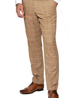 Marc-Darcy-Mens-Designer-Beige-Oak-Tweed-Herringbone-Trouser-Short-reg-Long-Leg-Available-0
