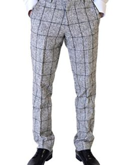 Marc-Darcy-Mens-Designer-Grey-Check-Tweed-Trouser-Size-28-46-Available-0