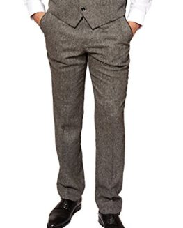 Marc-Darcy-Mens-Designer-Grey-Tweed-Tailored-Trouser-Work-Wedding-Size-28-46-Available-0