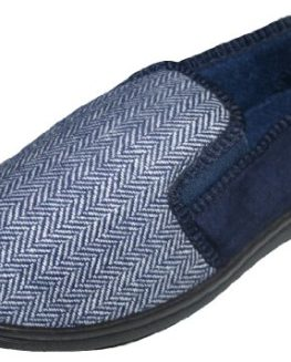Mens-Acrylic-Herringbone-Design-Tweed-Full-Slipper-0