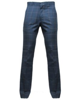 Relco-Mens-Blue-Tweed-Sta-Press-60s-Mod-Trousers-Sizes-28-42-0
