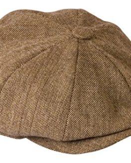 Shelby-Oatmeal-Brown-Tweed-Lightweight-Summer-Cloth-Cap-By-Gamble-Gunn-0