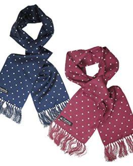 Silk-Polka-Dot-Scarf-By-Knightsbridge-60s-Mod-Dandy-Dress-Retro-56-x-7-0