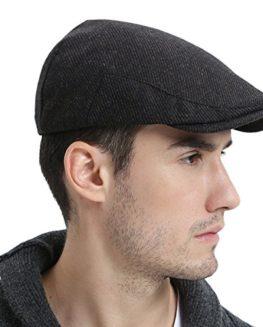 VOBOOM-Mens-Winter-Wool-Irish-Tweed-Caps-Cold-Weather-newsboy-Flat-Cap-Back-Adjustable-Stretch-Fit-0
