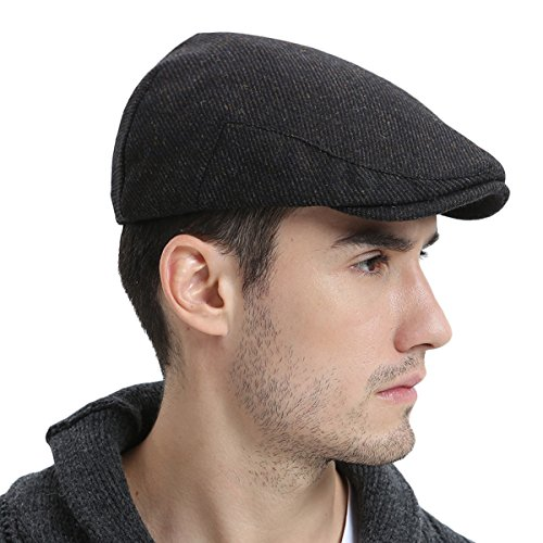 VOBOOM-Mens-Winter-Wool-Irish-Tweed-Caps-Cold-Weather-newsboy-Flat-Cap -Back-Adjustable-Stretch-Fit-0 30c44e7b671e