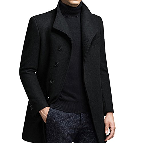 YOUTHUP Mens Wool Blend Winter Jacket