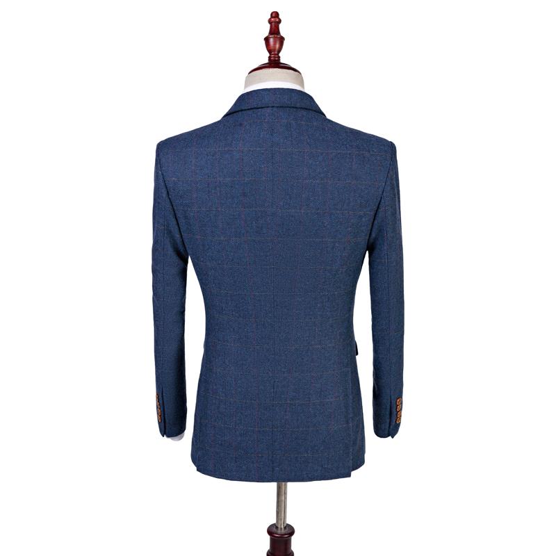 db02a035c50a British Tweed Co - Blue Herringbone Tweed Three Piece Suit - That ...