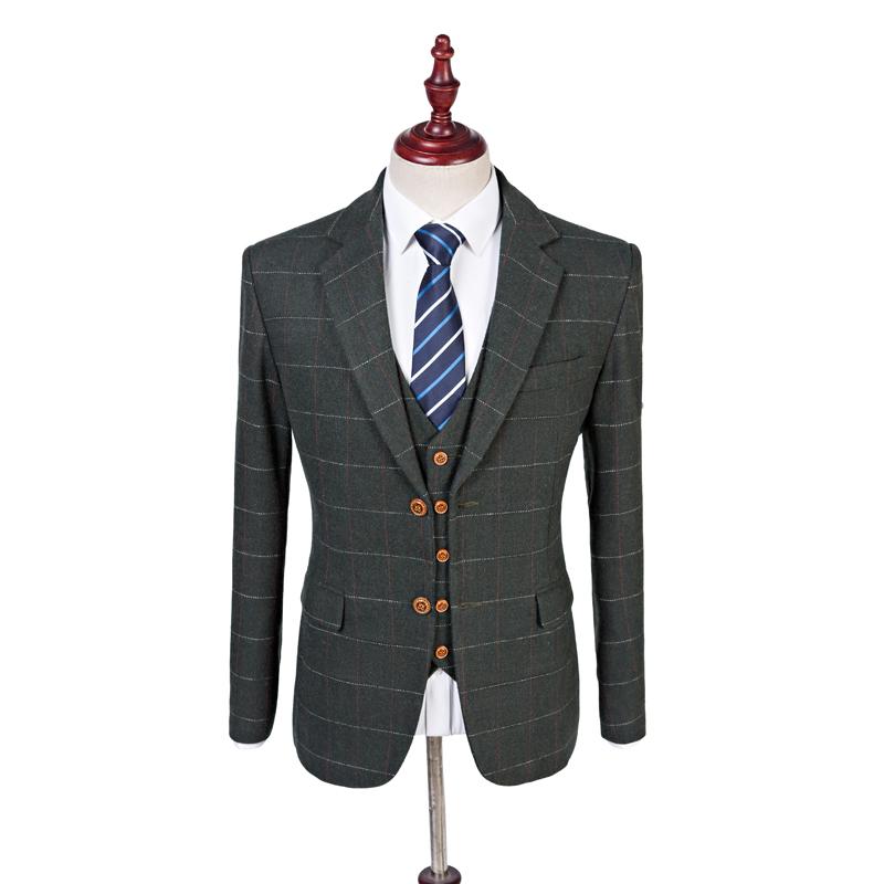 British Tweed Co Dark Green Check Tweed Jacket That British