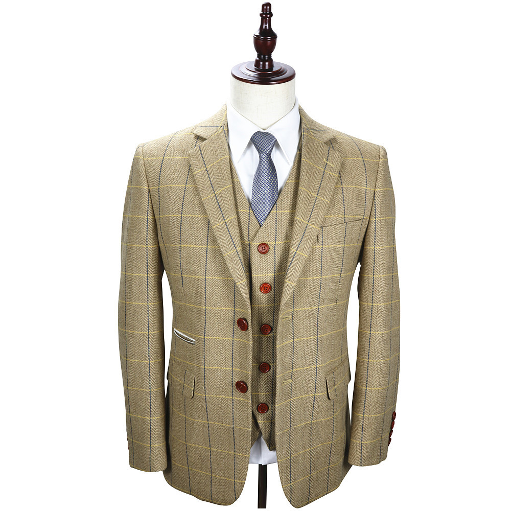 Made To Measure Tan Tweed Three Piece Suit That British Tweed Company