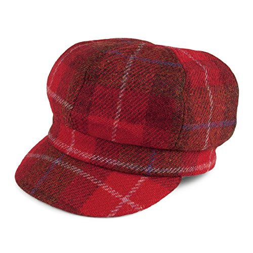 6ae9bb39913 Failsworth Hats Gabby Harris Tweed Baker Boy Cap - Red - That ...