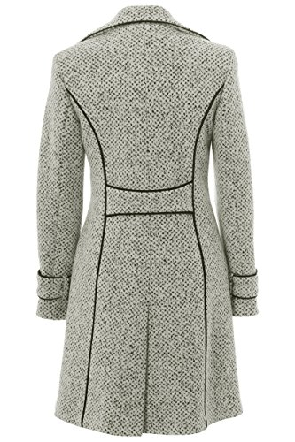 8f4f8d6abbe53 Busy Clothing Women White and Black Tweed 3/4 Coat - That British ...