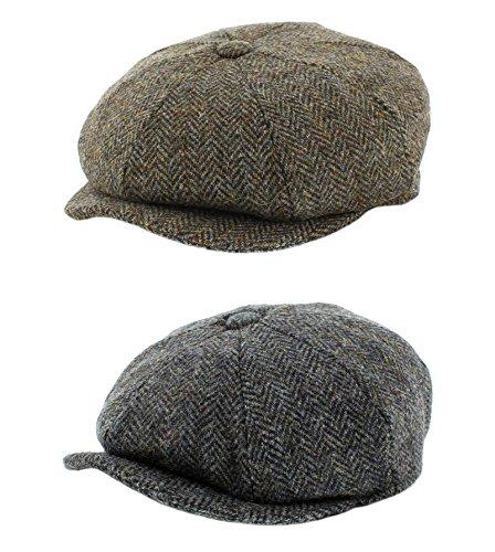 852385c23 Failsworth Harris Tweed 'Carloway' Baker Boy / Newsboy Cap