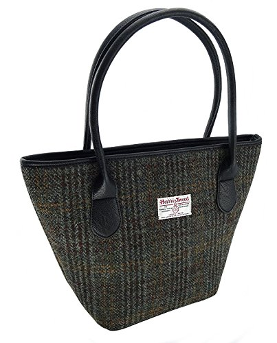 Red Check 100/% Wool Genuine Harris Tweed Purse Cotton Twill Lining ZB068
