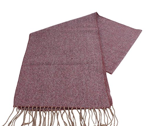 Burgundy Knightsbridge Neckwear Mens Knitted Wool Scarf