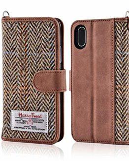 Herren-accessoires Harris Tweed Iphone Case Grey/black Herringbone Pattern New Sonstige