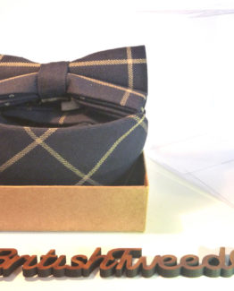 dbe440ef80c4 British Tweed Co – Blue Check – Matching Tweed Bow Tie, Tie & Pocket Square  Boxed Co.