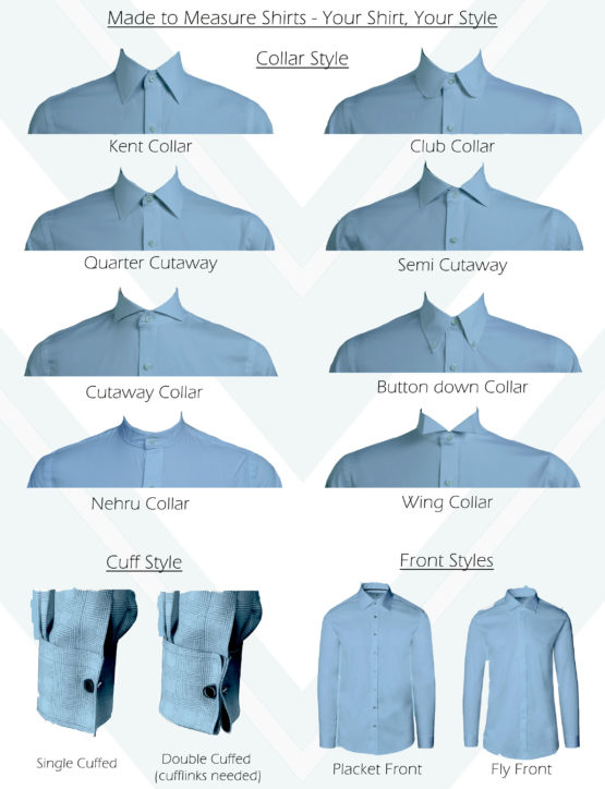 Made to Measure Shirts Collar Guide